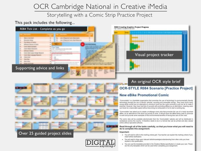 OCR-Style Creative iMedia Practice Project: Storytelling with a Comic Strip (Level 1/2, KS4)