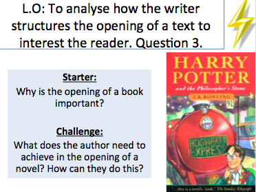 Harry Potter - Language Paper 1 Question 3 - Structure - Extract Included