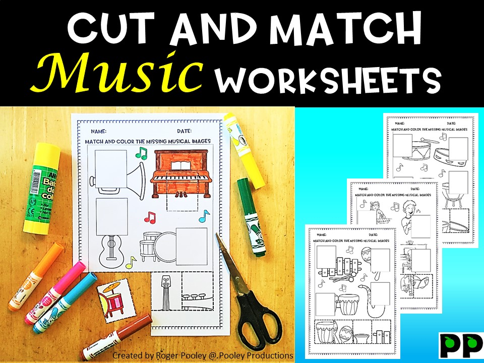Music Cut and Match Worksheets