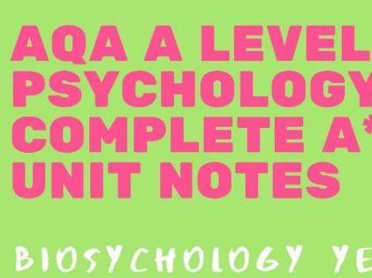 AQA A Level Psychology - Biopsychology A2 bundle