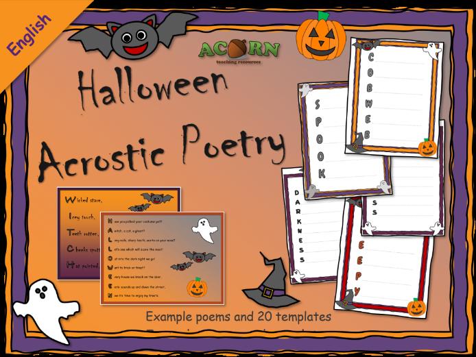 Halloween acrostic poetry