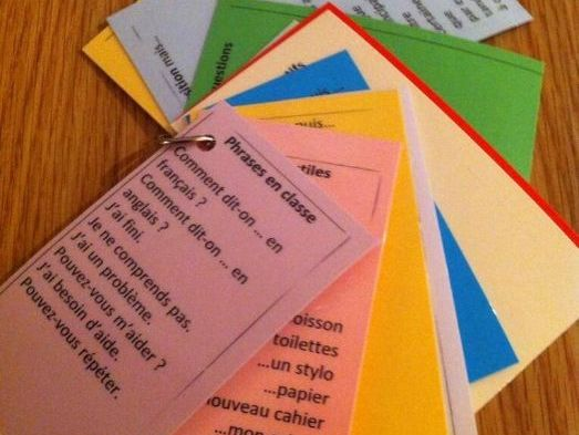 Speaking French bookmarks - general language KS4, KS3, KS2