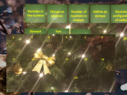 Christmas activity - Atomic structure advent calendar