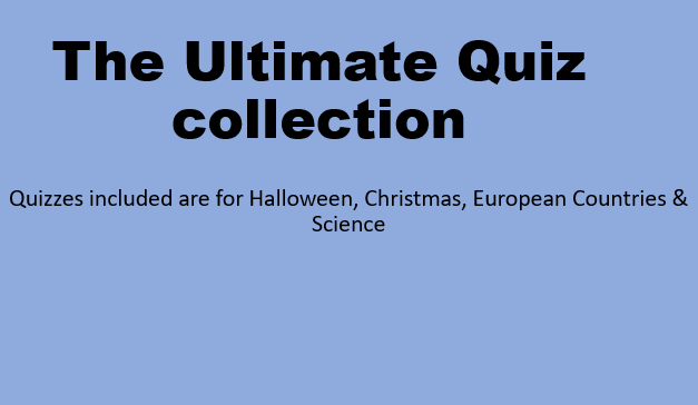 Lets get quizzing - The Ultimate Quiz Collection (halloween, christmas, xmas,  sciences, countries)