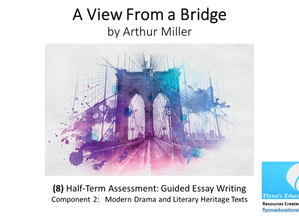 GCSE Literature: (8) 'A View from a Bridge' – Act 1 Guided Essay Writing Assessment