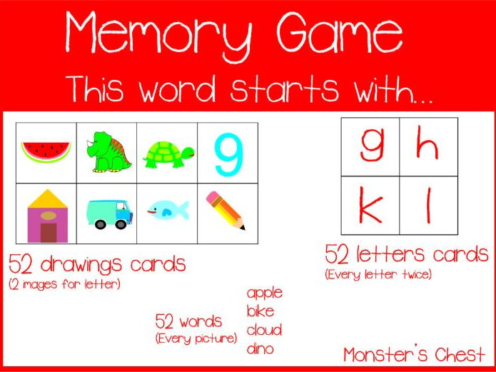 MEMORY GAME. THE WORD STARTS WITH...