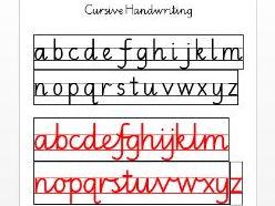 Handwriting Joins Cursive year 2