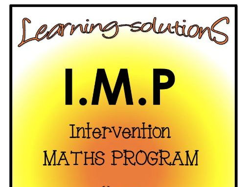 INTERVENTION MATHS PROGRAM - IMP Year 3- Number, Place Value, Patterns and Algebra + SCREENERS