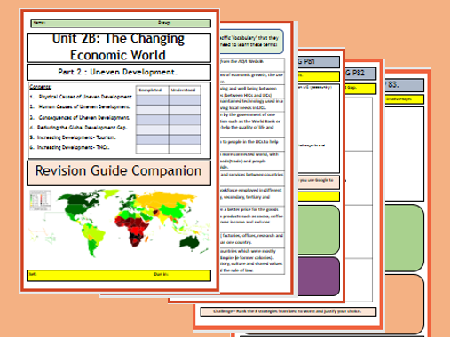 AQA GCSE 9-1 Flipped Learning Revision Guide Unit 2B: The Changing Economic World Part 2