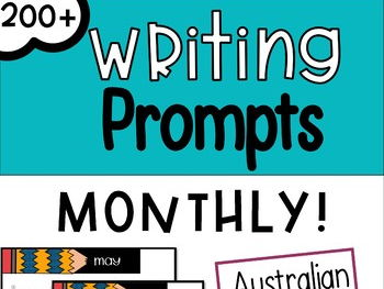 Monthly Writing Prompts - Australian Edition (+ Supporting Activities) - FREE WITH CODE