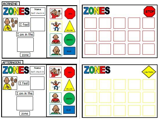 Zones of Regulation  - Self check-in