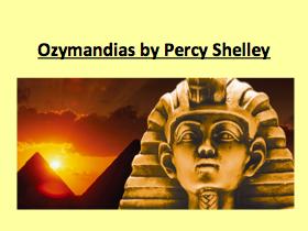 Ozymandias Grade 9 annotations