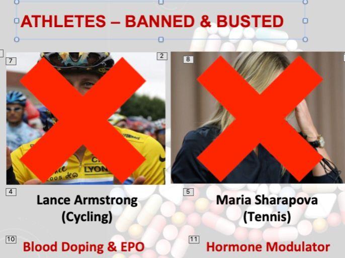 Sports Studies - Unit RO51 -LO2 Performance Enhancing Drugs PowerPoint (OCR Cambridge National)