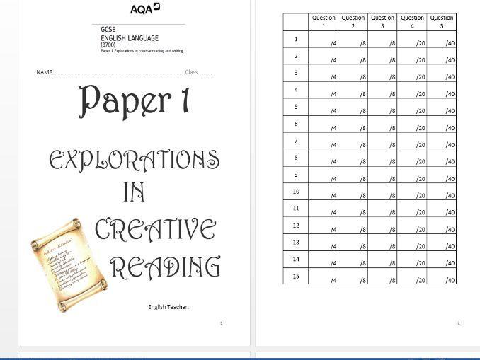 Revision Booklet: AQA Language Paper 1