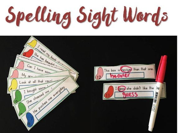NAPLAN Review Spelling Words Dry Erase Strips With and Without Clues Year 3