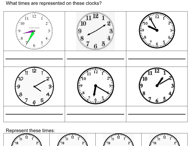Tell the Time from an Analogue Clock (Nearest 5 mins)