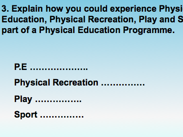 A Level P.E - Characteristics of Physical Activity Presentation