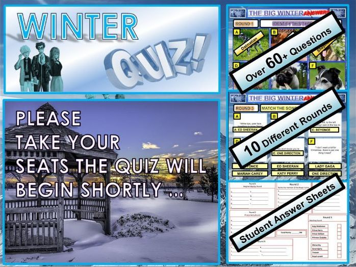Primary School Winter Christmas Quiz