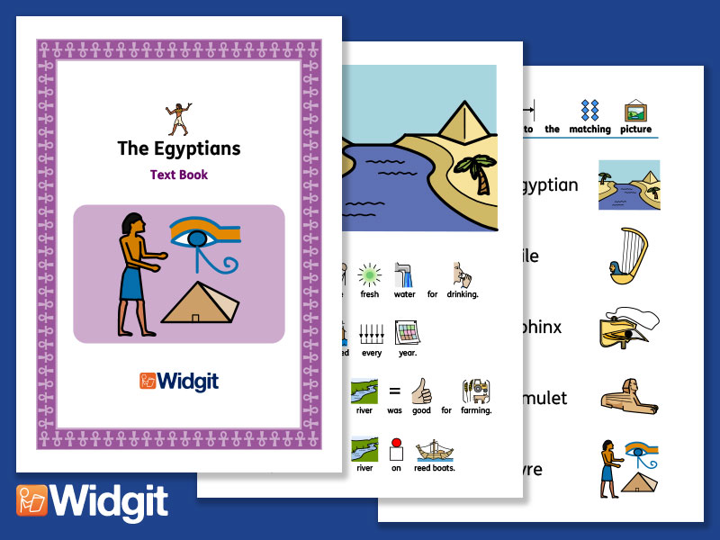 The Egyptians - History Book and Activities with Widgit Symbols
