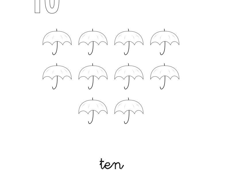 Learning Number 10 for Nursery and Reception Students