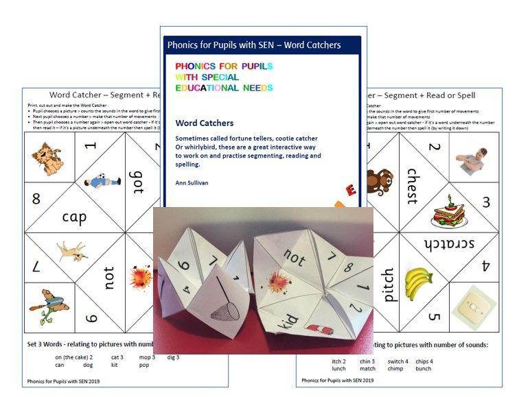 Word Catchers - Segment / Read / Spell Game - Sets 1-7 VCC-CCVCC sh th ch k - PhonicsforSEN