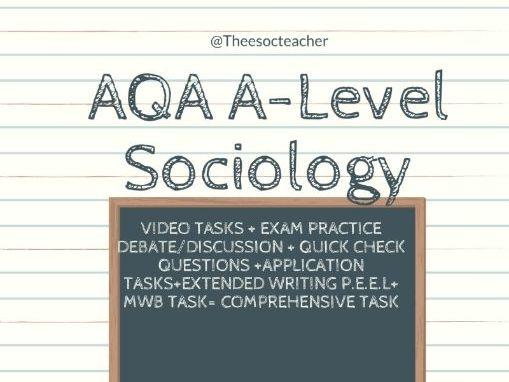 AQA A LEVEL SOCIOLOGY DEMOGRAPHY
