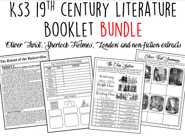 KS3 Booklet Bundle: 19th Century Literature 30% DISCOUNT