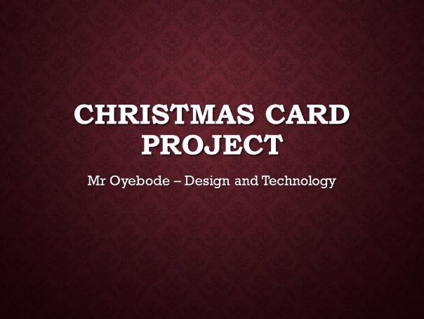 4 week Christmas Card Design Project