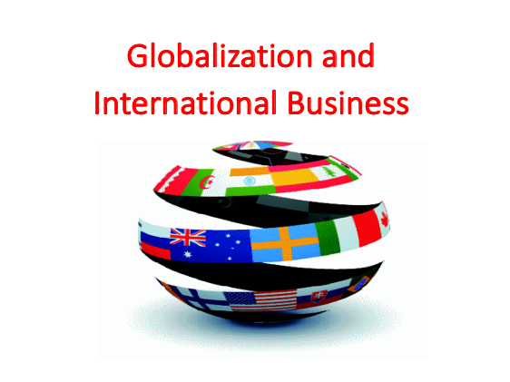 Globalization and International Business (IB)