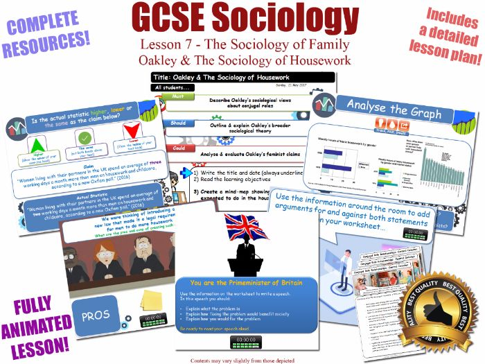 Conjugal Role Relationships - Sociology of Family - L7/20 [ WJEC EDUQAS GCSE Sociology ] OAKLEY NEW