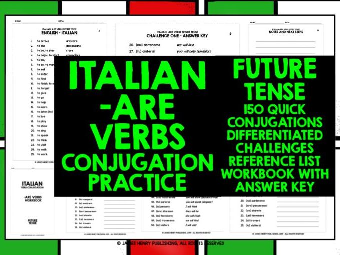 ITALIAN -ARE VERBS CONJUGATION #4