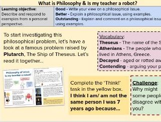 KS3 Philosophy of Mind - Full  lesson bundle