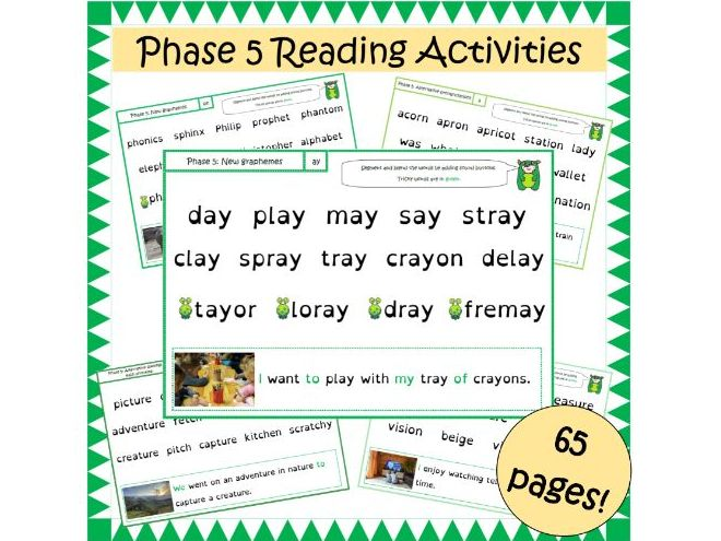 Phase 5 Letters and Sounds Segmenting and Blending Reading Activities
