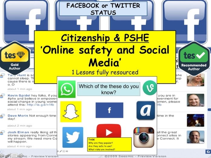 PSHE: Online safety and social media: Staying safe online CEOP