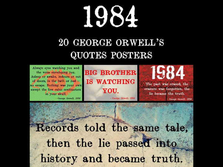 1984 Quote Posters