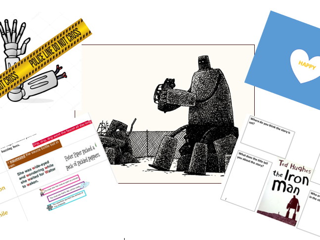 The Iron Man by Ted Hughes (literacy planning,differentiated worksheets+resources) Year 3/4 - Week 3