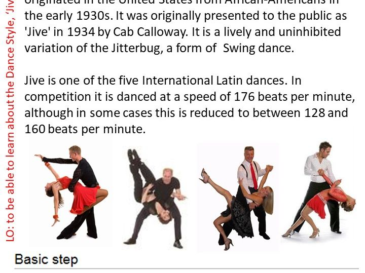 Jive Dance Resource Card