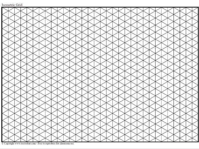 Isometric Tracing Grid