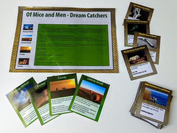 'Dream Catchers' - Of Mice and Men revision card game