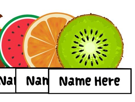 Editable Fruit Peg Labels