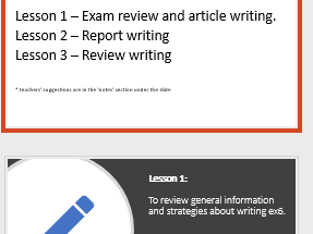 IGCSE ESL Exam review - exercise 6