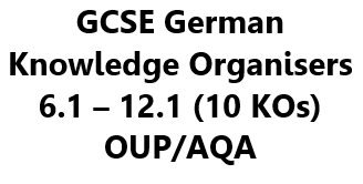 GCSE German Knowledge Organisers (KOs) - Set of 10 (6.1 to 12.1) to Complement OUP/AQA Course