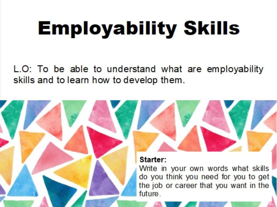 PSHE Employability Skills