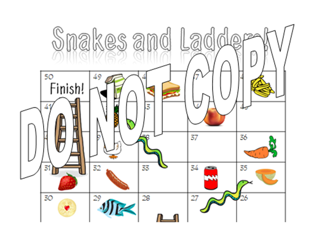 French - La Nourriture et Les Boissons Worksheet and Snakes and Ladders Game - Food Vocab