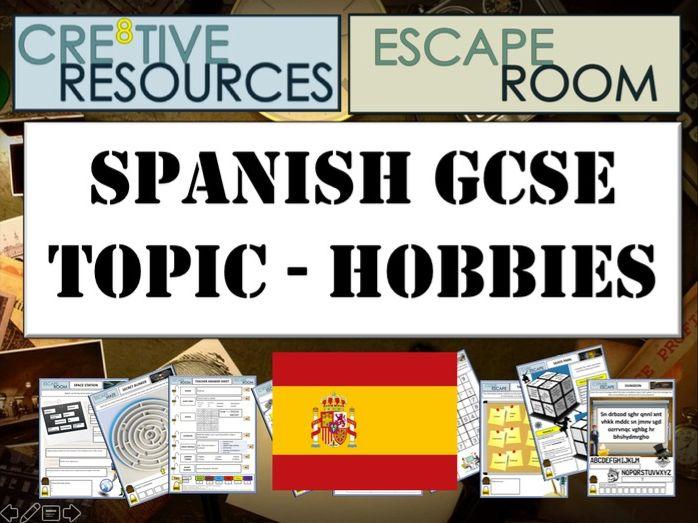 ESCAPE ROOM SPANISH GCSE MFL - Hobbies