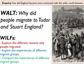 Migration to Tudor and Stuart England