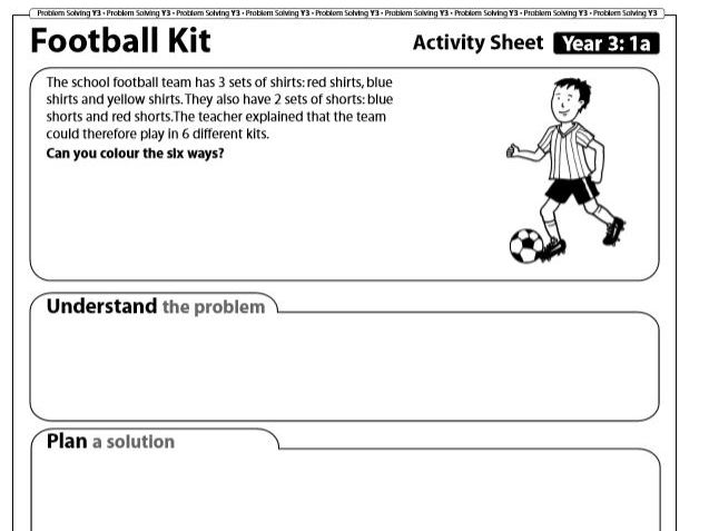 Year 3 Maths Problem Solving: Solving Mathematical Puzzles (5 Sheets) with Answers.