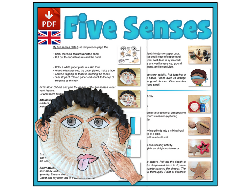 Explore our Five Senses - UK Version (A4)