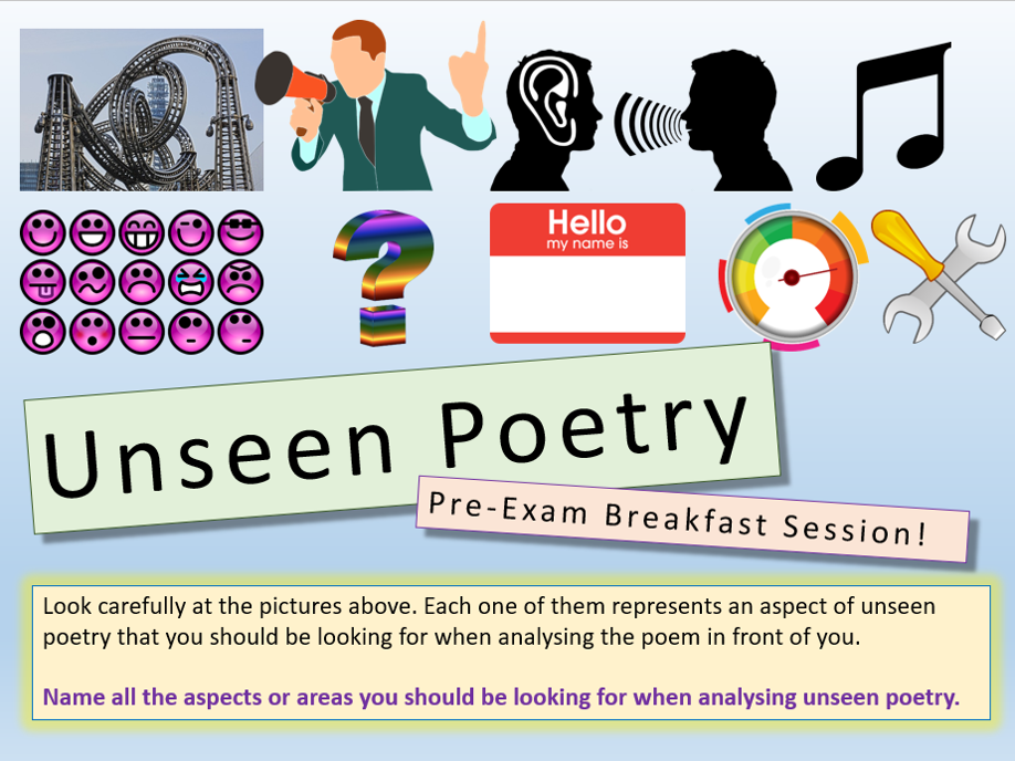 Unseen Poetry - Pre-Exam Breakfast
