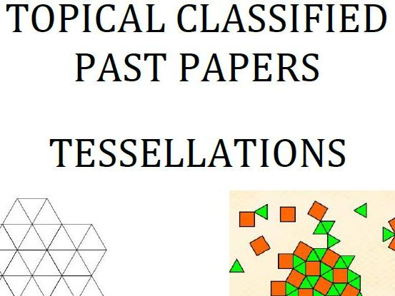 Cambridge Lower Secondary Checkpoint Topical Classified Past Papers-Mathematics-Tessellations